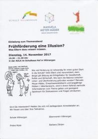 Referat Themenabend Schule Villmergen: Frühförderung eine Illusion / 14.11.2017_3